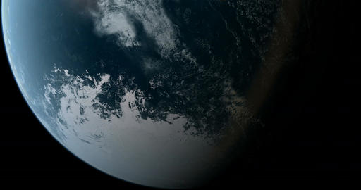 Orbiting over South Pole 4K Animation