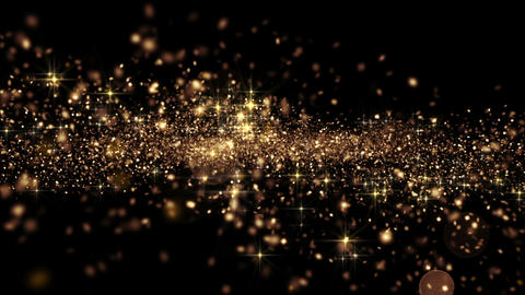 Beautiful Abstract Golden Particles Flying Seamless with Bokeh. Looped 3d Animat Animation