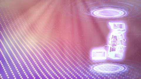 microscope holo rotate, cg industrial 3D animation Animation