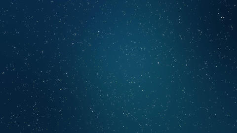 Winter night sky full of stars Animation