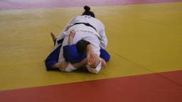 winning IPPON judoka woman Filmmaterial