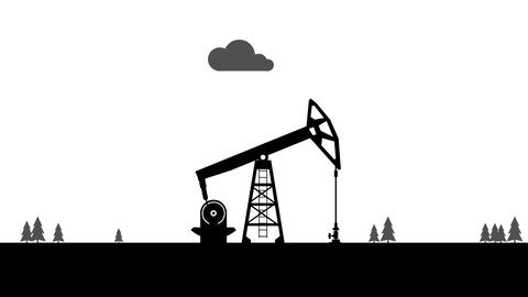Pumpjack. Oil pump. Animation with alpha channel Animation