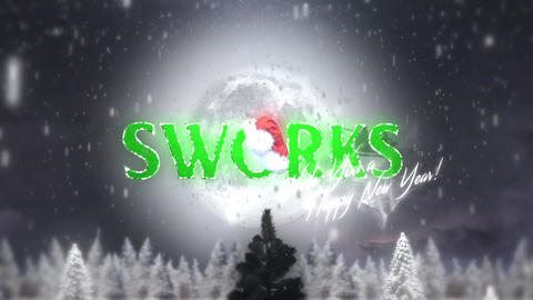 Night Forest Christmas Tree Logo Intro After Effects Template