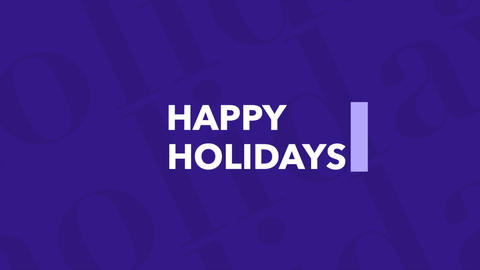 Animation intro text Happy Holidays on blue fashion and minimalism background with geometric line Animation