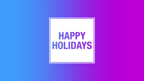 Animation text Happy Holidays on purple gradient fashion and minimalism background Animation