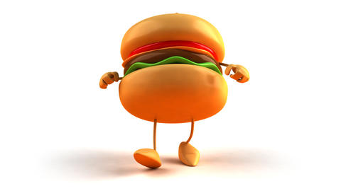 Burger Hiphop 1 stock footage