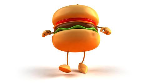 burger hiphop 1 Stock Video Footage