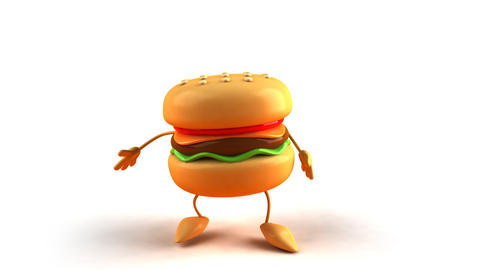 burger jump Animation