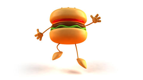 burger jump Stock Video Footage