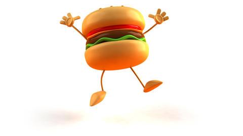 burger jump Stock Video Footage