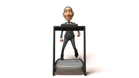 business boy run Stock Video Footage