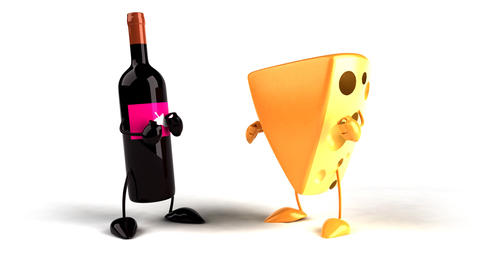 cheese wine 02 Stock Video Footage