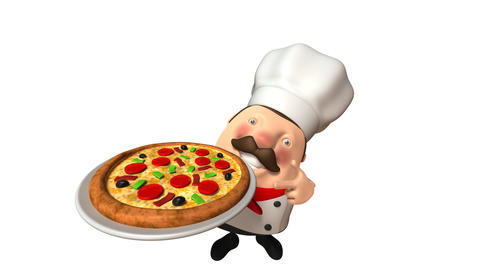 Chef pizza Stock Video Footage