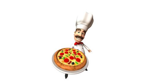 chef and pizza Stock Video Footage