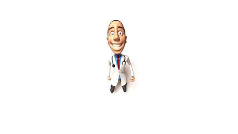 doctor run 02 Stock Video Footage