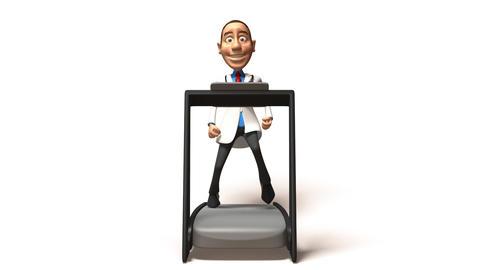 doctor treadmill 01 Stock Video Footage