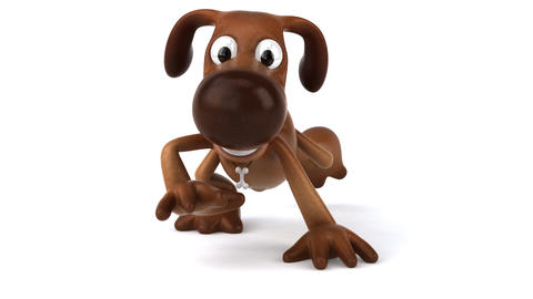dog walk2 HD Animation
