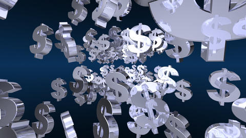dollars 2 Stock Video Footage