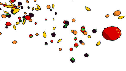 fruits flying1 Stock Video Footage