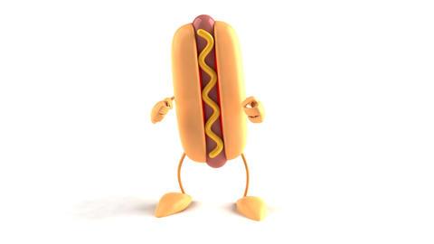 hotdog dance Stock Video Footage