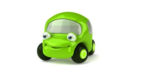 green car HD Stock Video Footage