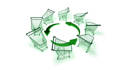 green shopping 2 Stock Video Footage