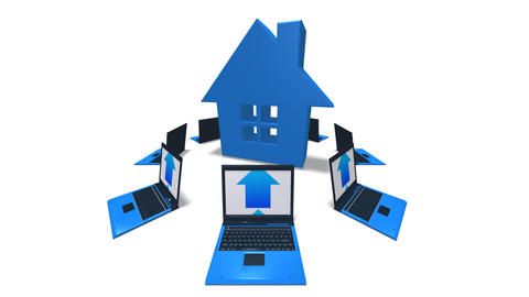 house laptop HD Stock Video Footage