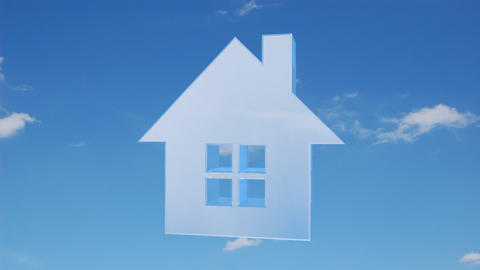 house sky Stock Video Footage