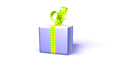 purple gift box Animation