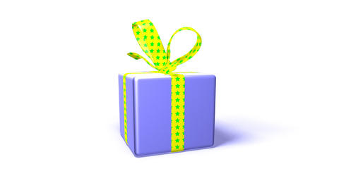 purple gift box Stock Video Footage