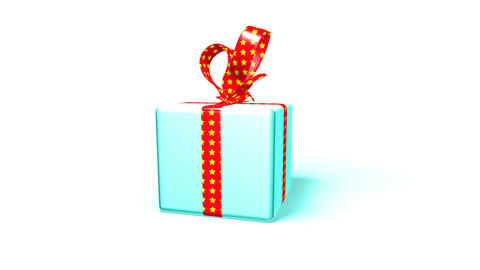 blue gift box Stock Video Footage