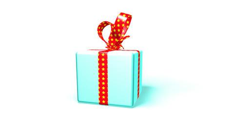 blue gift box Animation