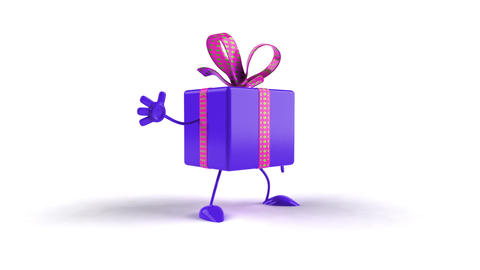 Purple Gift Box stock footage