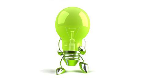 lightbulbwalk1 Stock Video Footage