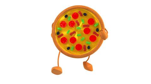 Pizzawalk HD Stock Video Footage