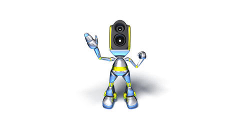robotdance2 Stock Video Footage