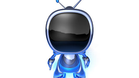 robot tv2 Stock Video Footage