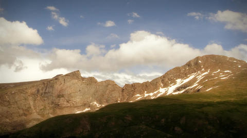 (1104) Wilderness Summer Mountain Storm Time Lapse PAN Footage