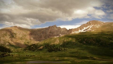 (1104) Wilderness Summer Mountain Storm Time Lapse PAN Stock Video Footage