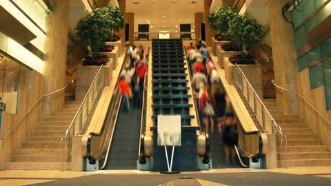 Escalator no faces Stock Video Footage