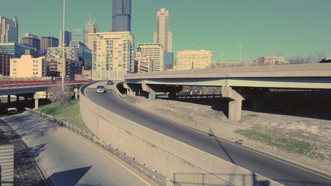 Highway Onramp Skyline Stock Video Footage