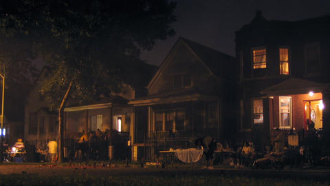 Neighborhood Fireworks Stock Video Footage