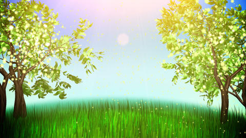 apple trees loop Animation