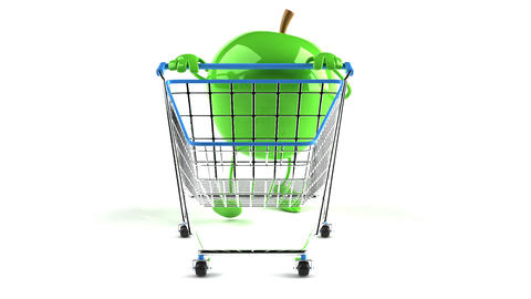 shopping cart apple 1 Animation