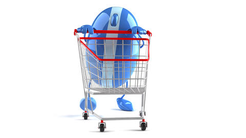 shopoing cart mouse1 Stock Video Footage