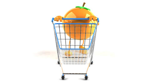 shopping cart orange 1 Animation