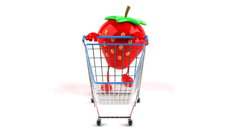 shopping cart strawberry 1 Animation
