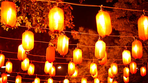 The Chinese small lamps Stock Video Footage