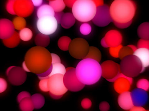 VJ Loop 391 3D Pink Balls 24s Stock Video Footage