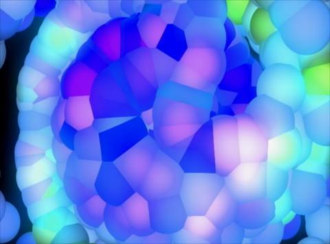 VJ Loop 404 3D Balls Blue Glow 27s Stock Video Footage